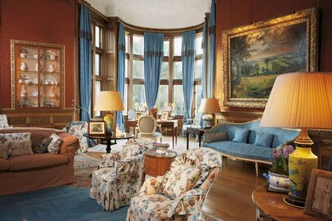 Holker Hall drawing room