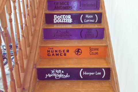 The Book Lounge - stairs
