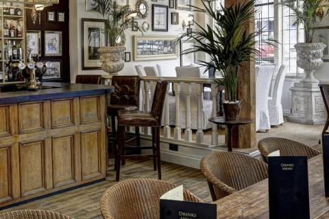 The bar at The Royal Hotel, Kirkby Lonsdale