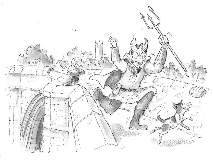 The Myth of Devil's Bridge illustration © James Innerdale